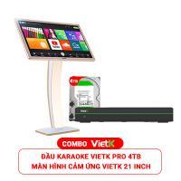 Combo Đầu VietK Pro 4TB + Màn VietK 21 inch