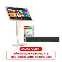 Combo Đầu VietK Pro 4TB + Màn VietK 22 inch
