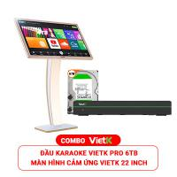 Combo Đầu VietK Pro 6TB + Màn VietK 22 inch