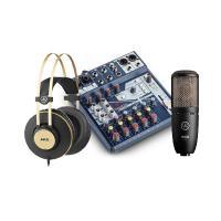 Combo thu âm micro AKG P220 + Mixer Soundcraft Notepad 8FX + Tai nghe AKG K92