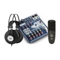 Combo thu âm Mixer Soundcraft notepad 8FX + Micro AKG P120 + tai nghe AKG K72