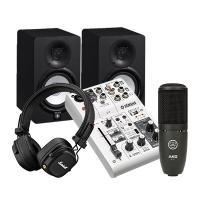 Combo thu âm Mixer Yamaha AG03 - Loa Yamaha HS5 - Micro AKG P120 - Tai nghe Marshall Major IV