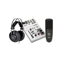 Combo thu âm Mixer Yamaha AG03 - Micro AKG P120 - Tai nghe AKG K52