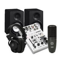 Combo thu âm Mixer Yamaha AG06 – Loa Yamaha HS5 - Micro AKG P120 - Tai Nghe Yamaha HPH-MT5
