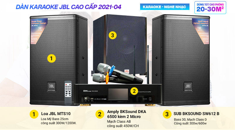 Dàn karaoke JBL cao cấp 2021-04