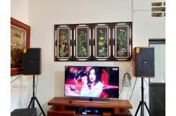Lắp đặt dàn karaoke gia đình anh Long tại Hà Nội (Domus DK612, VM620A, X5 Plus, SW612B, BJ-U500)
