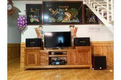 Lắp đặt dàn karaoke gia đình anh Phi tại Hưng Yên (BIK BJ-S886II, BKSound DKA-6500, SW512C)