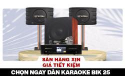 Săn hàng xịn giá tiết kiệm, chọn ngay dàn karaoke BIK 25 giá rẻ bất ngờ