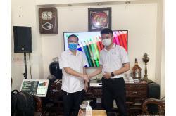 Lắp đặt dàn karaoke gia đình anh Sáng tại Hà Nội (RCF CMAX 4110, Xli3500, VietK 22 inch)