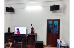 Lắp đặt dàn karaoke gia đình anh Toản tại Nam Định (JBL CV1052T, Crown T5, X6 Luxury, SW512B, U900 Plus X)