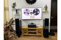 Lắp đặt dàn nghe nhạc cho anh Trung tại Hà Nội (Klipsch RP-6000F, Yamaha R-N803)