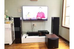 Lắp đặt dàn nghe nhạc, xem phim cho anh Duy tại Hải Phòng (Yamaha NS-F51, NS-P51, RX-V4A, NS-SW100)