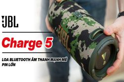 JBL Charge 5: Loa bluetooth âm thanh mạnh mẽ, pin lớn và có thể sạc lại các thiết bị khác