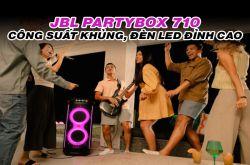 JBL Partybox 710: Công suất siêu khủng, đèn LED đỉnh cao, có bánh xe di chuyển
