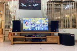 Lắp đặt dàn karaoke anh Nguyên tại Lâm Đồng (RCF CMAX4112, VM820A, KX180, TS315S, VIP 6000)