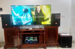 Lắp đặt dàn karaoke anh Quang tại Hà Nội (JBL CV1070, Crown T7, X6 Luxury, SW612C, UGX12...)