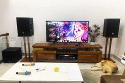 Lắp đặt dàn karaoke gia đình anh Hưng tại Quảng Nam (PRX 412M, Crown T7, KX180, A120P, VIP 3000)