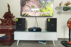 Lắp đặt dàn karaoke gia đình anh Phú tại TP HCM (Domus DP6100, BKSound DKA6500)