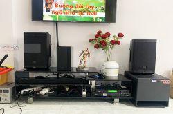 Lắp đặt dàn karaoke gia đình chị Ngân tại TP HCM (JBL EON 610, DSP9000 Plus, TX212S, U900 Plus X)