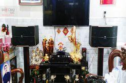 Lắp đặt dàn karaoke gia đình chị Tuyền tại TP HCM (JBL Pasion 12, BIK VM620A, JBL KX180)