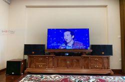 Lắp đặt dàn karaoke gia đình chú Thành tại Hà Nội (JBL CV1252T, BKSound DKA8500, SW512C)