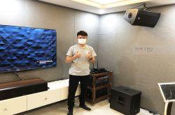 Lắp đặt dàn karaoke, xem phim anh Quân tại Hà Nội (CMAX 4110, Xli2500, VM420A, K9900II, 702-ASII, RP-504C...)