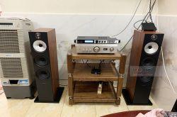 Lắp đặt dàn nghe nhạc cho anh Hải tại TP HCM (B&W 603 S2, Denon PMA-1600NE, X6 Luxury)