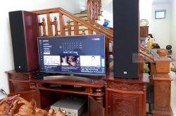 Lắp đặt dàn nghe nhạc cho anh Hoàn tại Ninh Bình (JBL Studio 690, Denon PMA 1600NE)