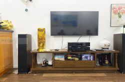 Lắp đặt dàn nghe nhạc cho anh Nguyên tại Hà Nội (Klipsch RP5000F, Maranzt CD6007, Maranzt CD5005)