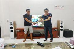 Lắp đặt dàn nghe nhạc cho anh Thái tại Bắc Giang (B&W 602 S2, JBL A120P, Yamaha R-N803)