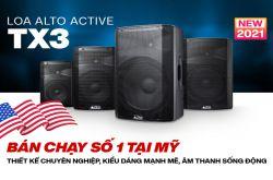Loa Alto Active TX3 - liền công suất bán chạy số 1 tại Mỹ chính thức trình làng