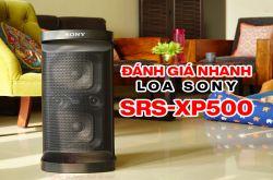 Sony SRS-XP500: Thiết kế xách tay, Pin 20h, đèn LED 2 đầu, có sạc nhanh