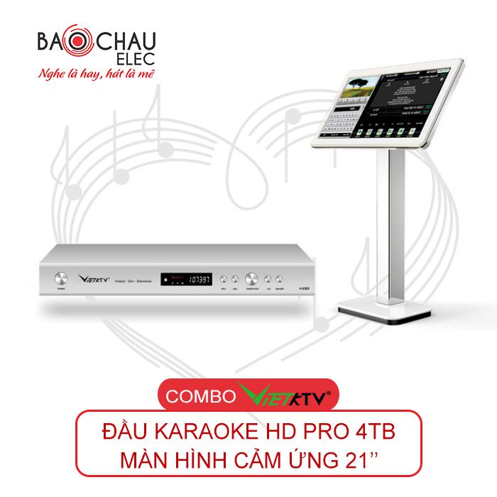 Combo VietKTV HD PRO 4TB + Màn hình 21