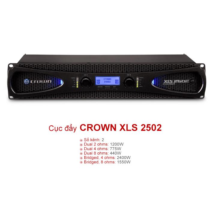 Cục đẩy Crown XLS 2502