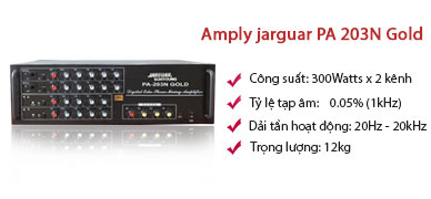 Ampli Jarguar Suhyoung PA 203N Gold