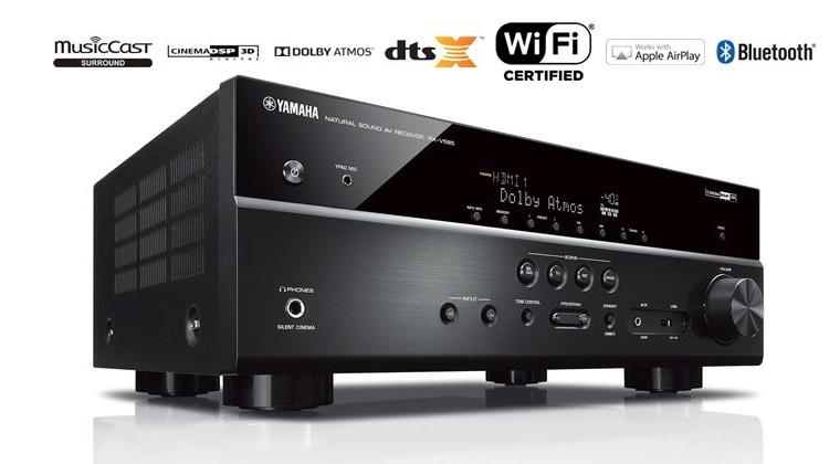 Amply Yamaha RW-V585 Blacklà sản phẩm ưu tú của thể loạiamply xem phim, nghe nhạc đến từ thương hiệu nổi tiếng Yamaha