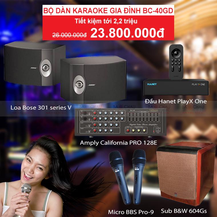 Bộ dàn karaoke gia đình BC-40GD hay giá rẻ