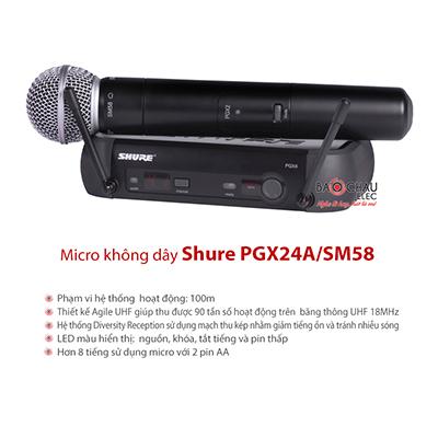 Micro Shure PGX24A/SM58