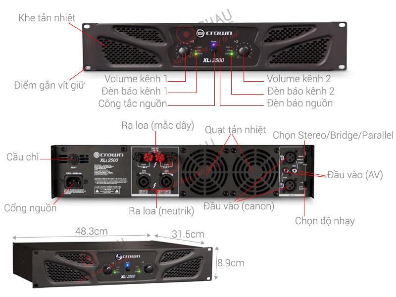 Công suất Crown XLi2500