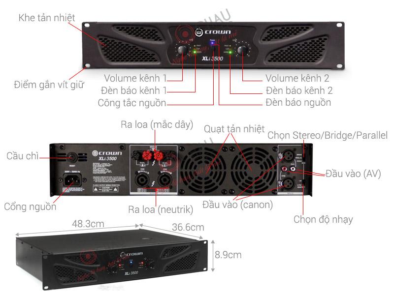 Thông số kỹ thuật Crown XLi 3500