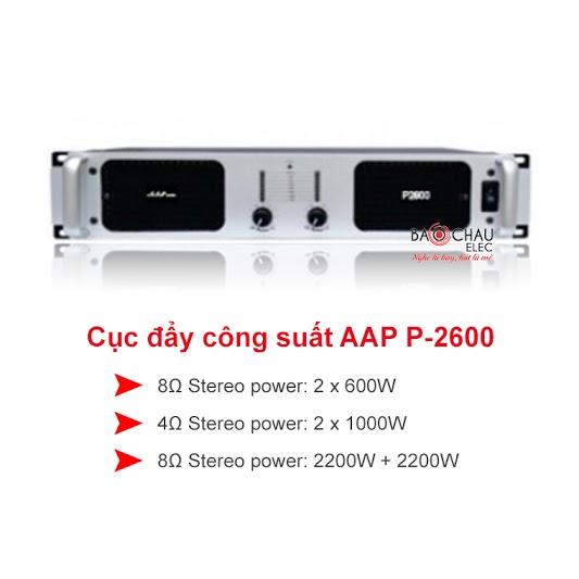 Cục đẩy công suất AAP p2600