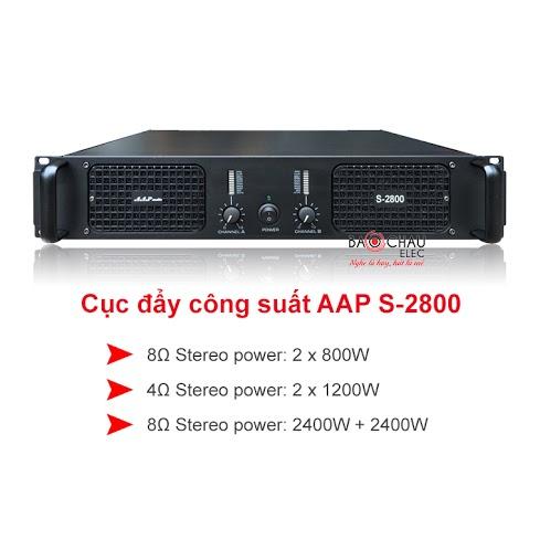 Cục đẩy công suất aap s2800