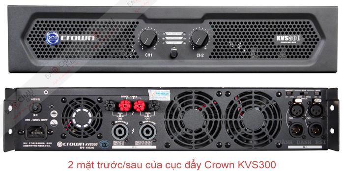 Cục đẩy công suất Crown KVS300 - mặt trước/sau sản phẩm