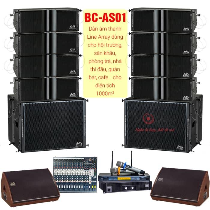 Bộ Dàn âm thanh BC-AS01 (cho diện tích 1000m2)