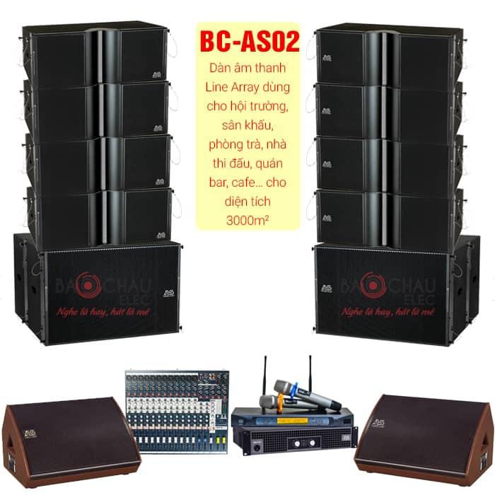 Bộ dàn âm thanh line Array BC-AS02