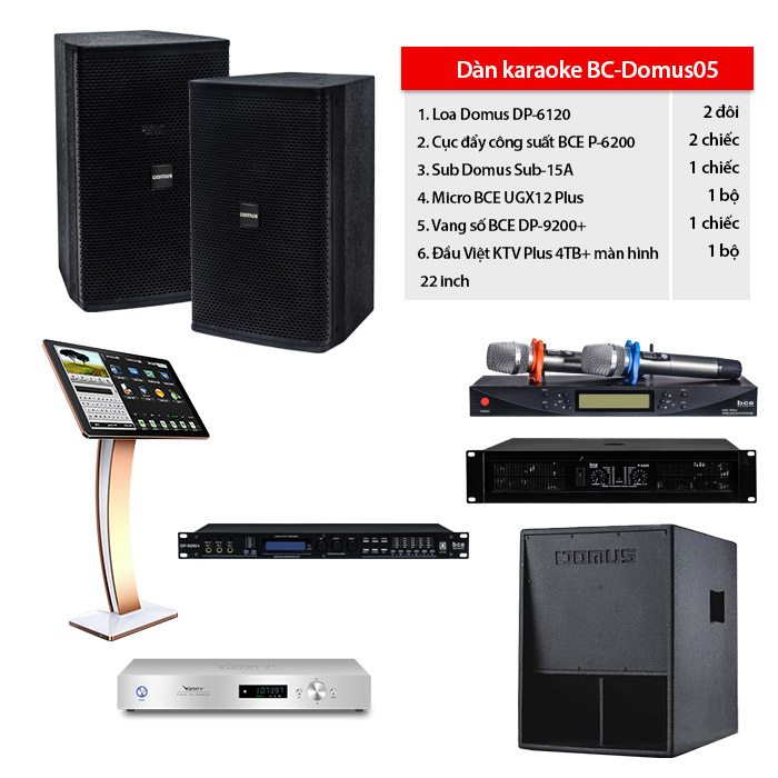 Bộ dàn karaoke BC-Domus05
