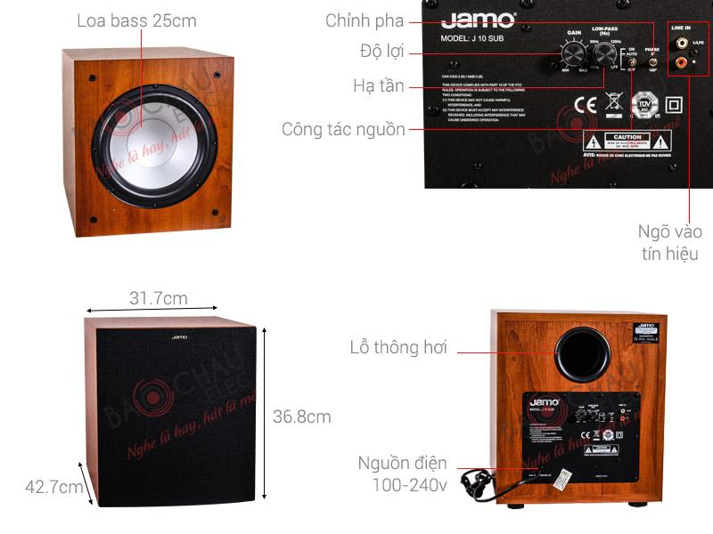 Thông số kỹ thuật Loa sub Jamo J10