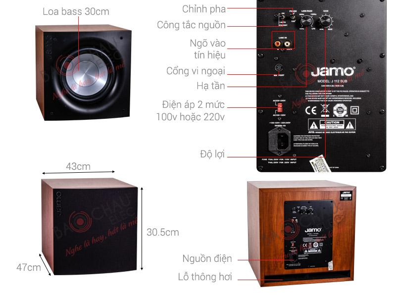 Thông số kỹ thuật Loa sub Jamo J112