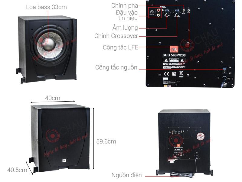 Sub điện JBL Studio 560P/230 (bass 30)
