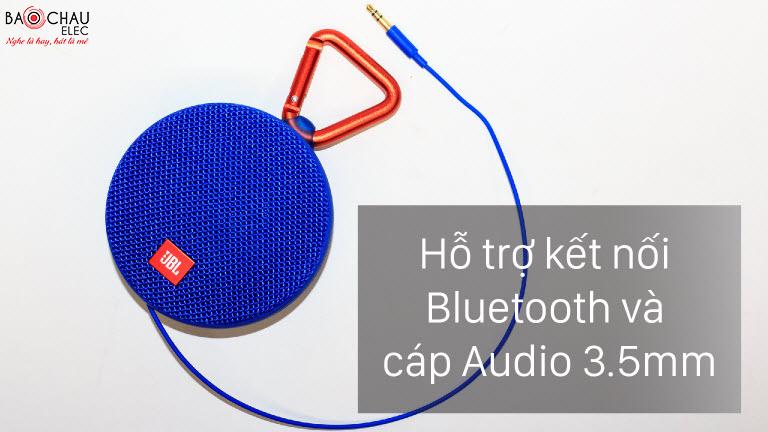 jbl clip 2 ho tro ket noi bluetooth và cap 3.5